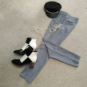H&M/ B & W PLAID SKINNY FIT/COUPE MOULANTE PANTS